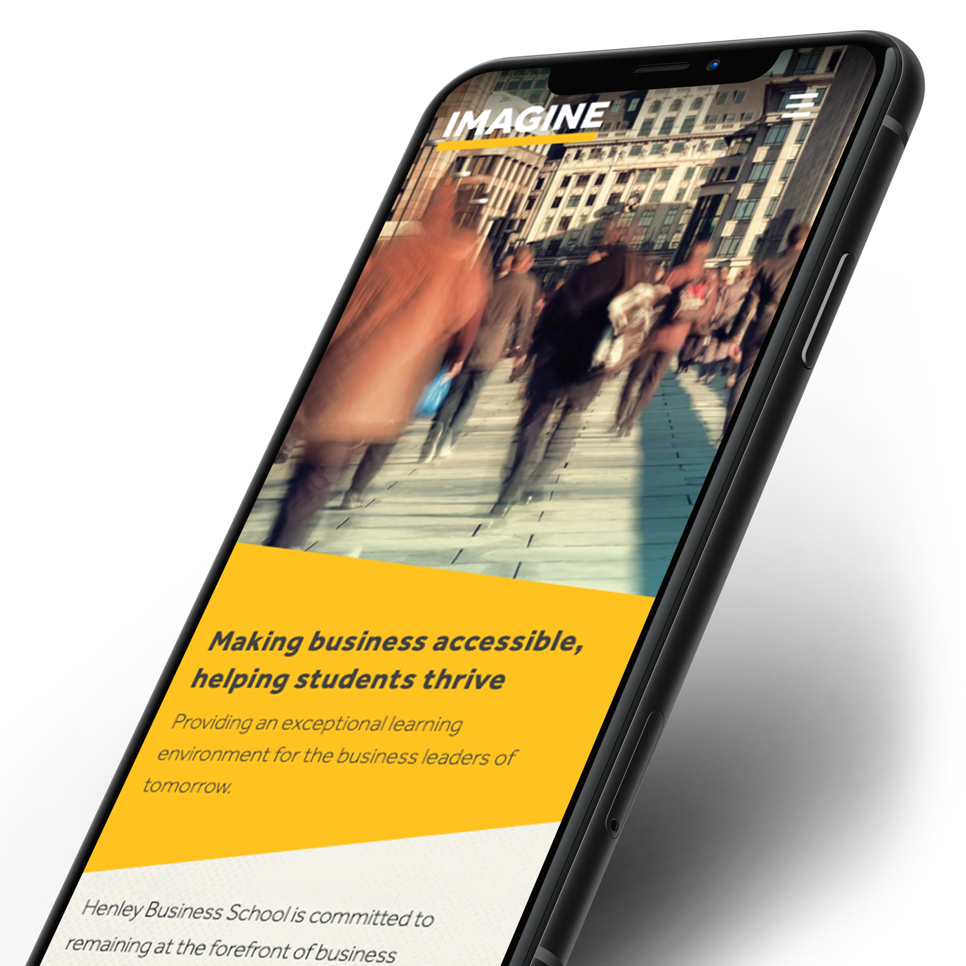 IMAGINE business accessibility article on iPhone XR